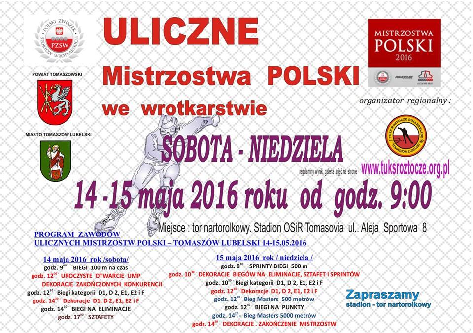 Rolki Polska Uliczne Mistrzostwa w jezdzie szybkiej na rolkach Polski 2016 roku w Tomaszowie Lubelskim Plich Wyscig team Roll4life Mapleskate Rollerblade