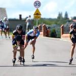 Puchar Kaszub w jeździe szybkiej na rolkach PlichWyscig K2 Rollerblade Poland 2016 Reskowo na trasie